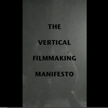 Creative Commons and the Vertical Cinema Manifesto